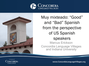 "Muy mixteado: ""Good"" and ""Bad"" Spanish from the perspective of US"