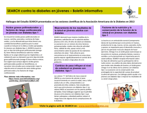 SEARCH contra la diabetes en jóvenes – Boletín informativo