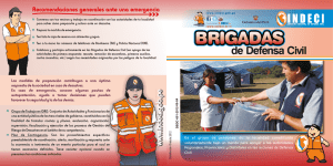 Brigadas de Defensa Civil - Biblioteca Virtual en Gestión del Riesgo
