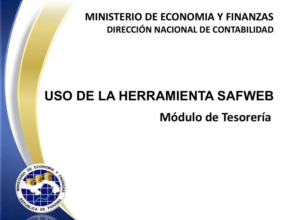 Capacitacion Saf Web Tesoreria Ministerio De Economía Y