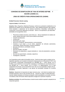 L  nea de Financiamiento LEASING