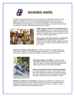 diciendo adiós - SNHS Child Development Program