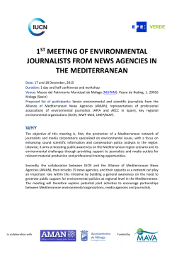 1st meeting of environmental journalists from news agencies in the