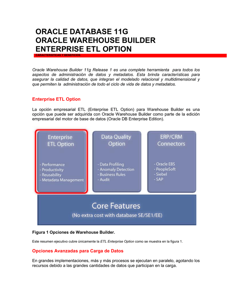 oracle database 11g oracle warehouse builder enterprise etl