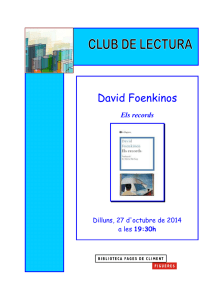 David Foenkinos - Biblioteca Fages de Climent