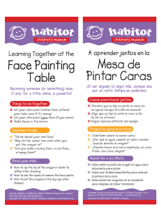 Face Painting Table - Habitot Children`s Museum
