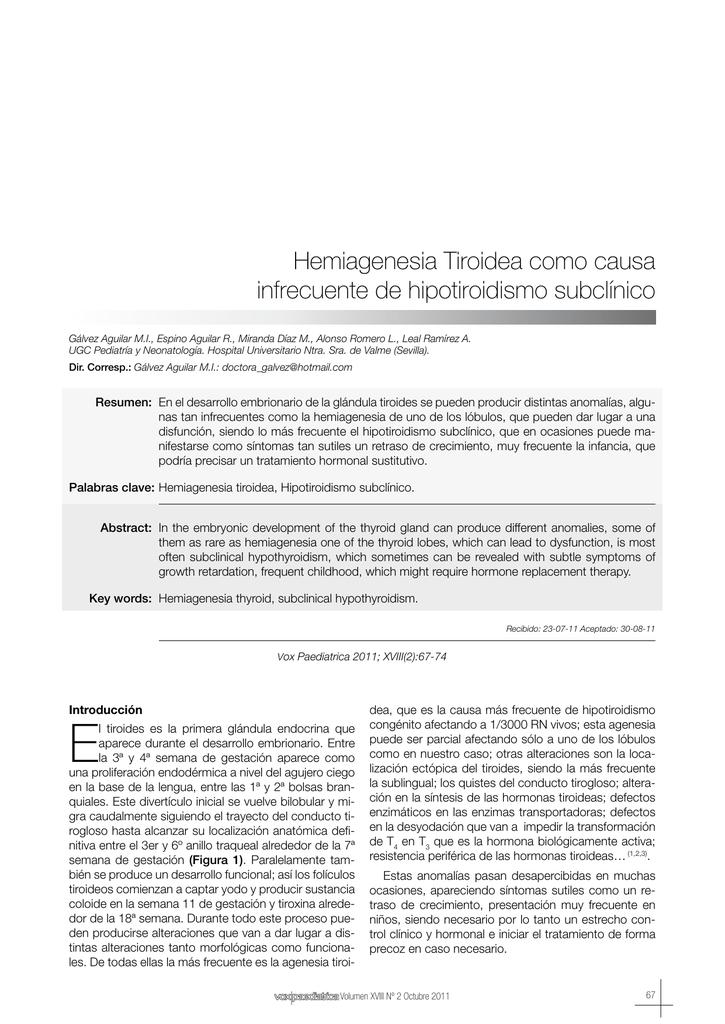 agenesia parcial de tiroides