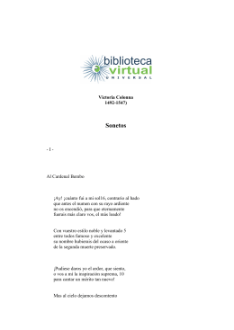 Sonetos - Biblioteca Virtual Universal