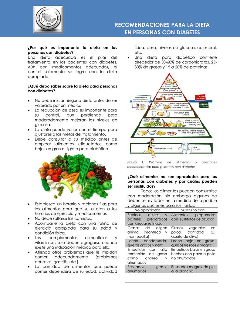 dieta diabetes y nivel de colesterol