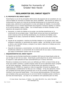 reglamentos del sweat equity - Habitat for Humanity of Greater New