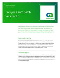 CA SymDump® Batch Version 9.0