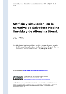 Artificio y simulación en la narrativa de Salvadora