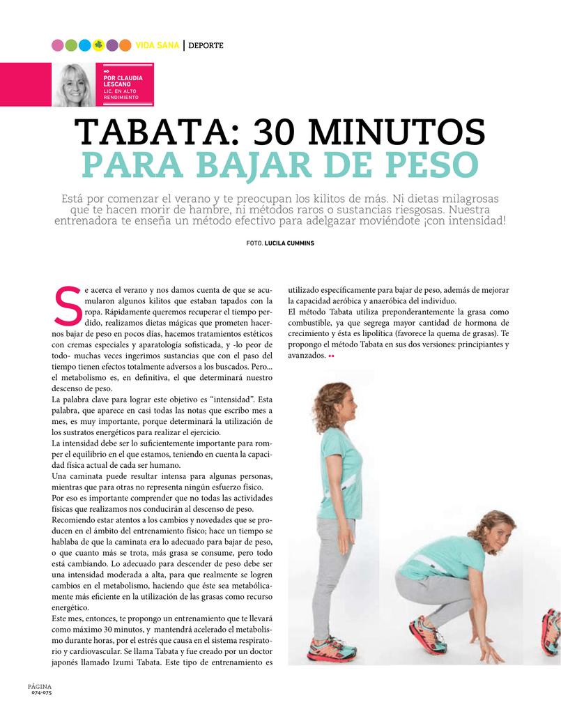Como bajar de peso en 30 minutos