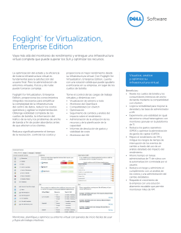 Foglight™ for Virtualization, Enterprise Edition