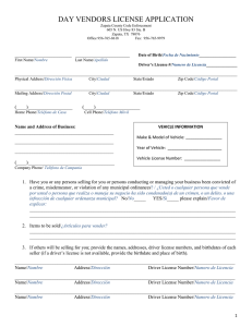 day vendors license application
