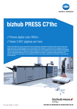 bizhub PRESS C71hc datasheet_sp.indd