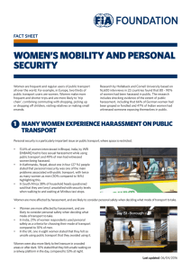 women`s mobility and personal security
