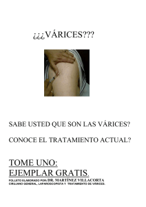 folleto de varices