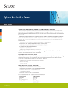 Sybase Replication Server datasheet