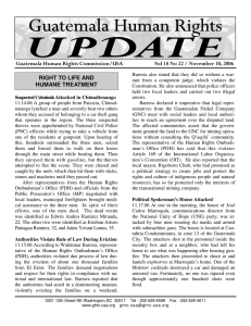 UPDATE Vol 18 No 22 - Guatemala Human Rights Commission