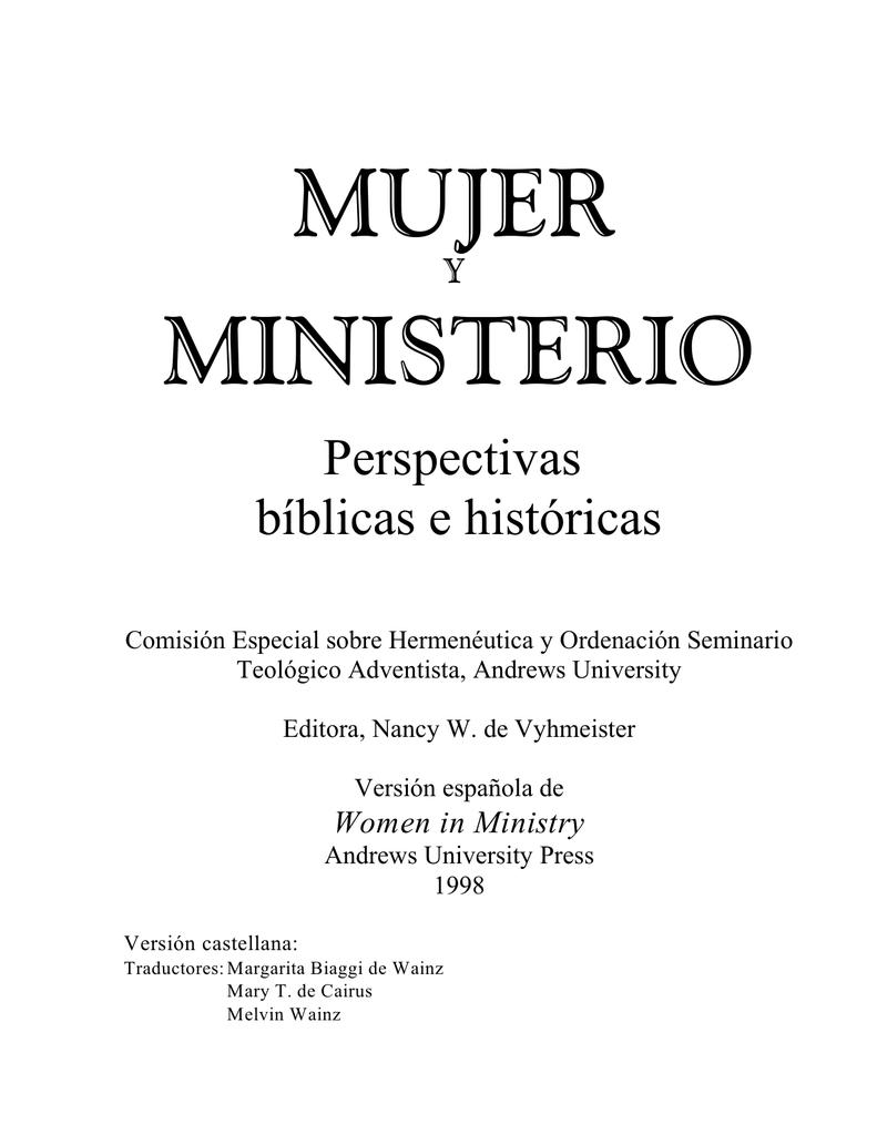 mujer ministerio - Página de Eunice