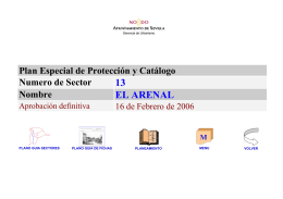 PLAN ESPECIAL DE PROTECCION DEL SECTOR 13: