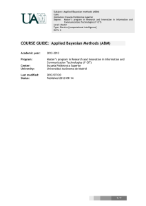 COURSE GUIDE: Applied Bayesian Methods (ABM)