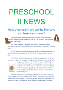 Hello everybody!! We are the Monkeys and here is our