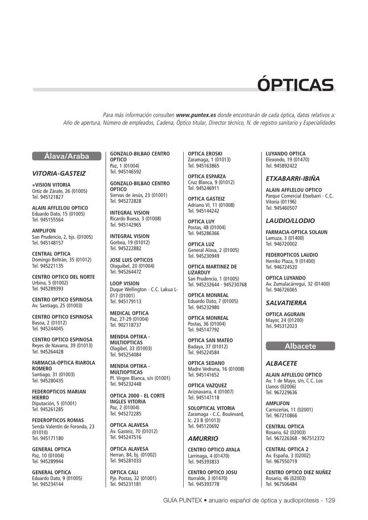 60166dedc1 ópticas - Puntex