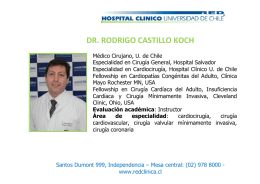 dr. rodrigo castillo koch - Hospital Clínico Universidad de Chile