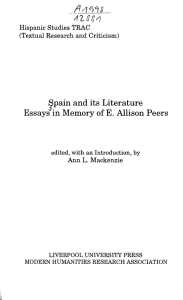 pain and its Literature Essays in Memory of E. Allison Peers