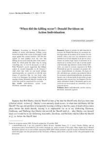 `When did the killing occur?: Donald Davidson on Action Individuation