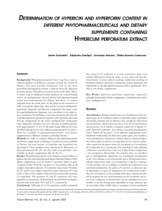 determination of hypericin and hyperforin content in