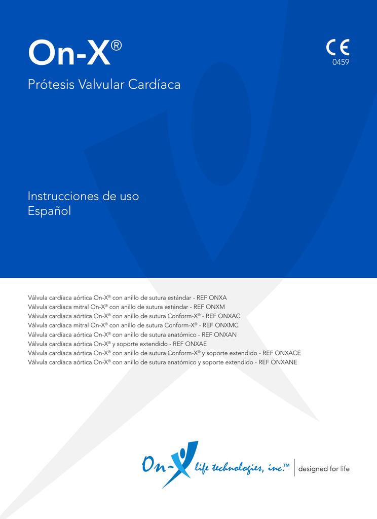 Instrucciones de uso de la prótesis valvular cardíaca On-X