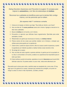 Eating Disorders Awareness and Prevention te sugiere 10 consejos