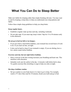 What to do to sleep better - Health Information Translations