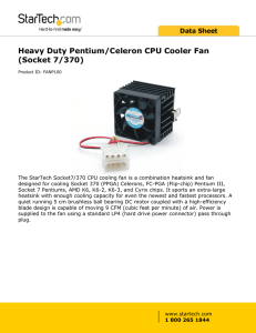 Heavy Duty Pentium/Celeron CPU Cooler Fan