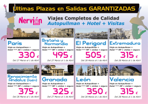 Cartel ultimas plazas
