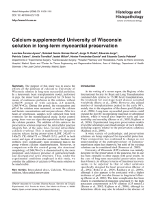 Calcium-supplemented University of Wisconsin solution in long
