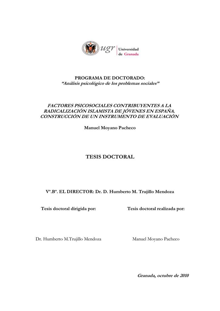 tesis doctoral - Repositorio Institucional de la Universidad de Granada