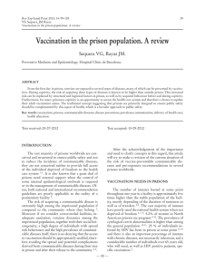 Vaccination in the prison population. A review