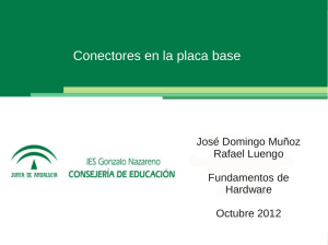 Conectores en la placa base