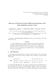 Blow-up in Functional Partial Differential Equations with large