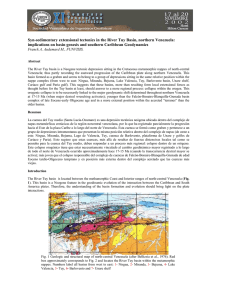 Syn-sedimentary extensional tectonics in the River Tuy Basin