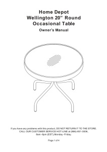 Home Depot ,, Wellington 20 Round Occasional Table