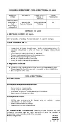 Informe Depto Anatomía Patológica