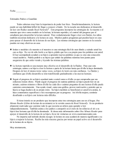 Fluency at Home Letter - Spanish