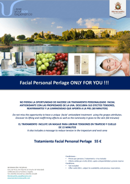 Facial Personal Perlage ONLY FOR YOU