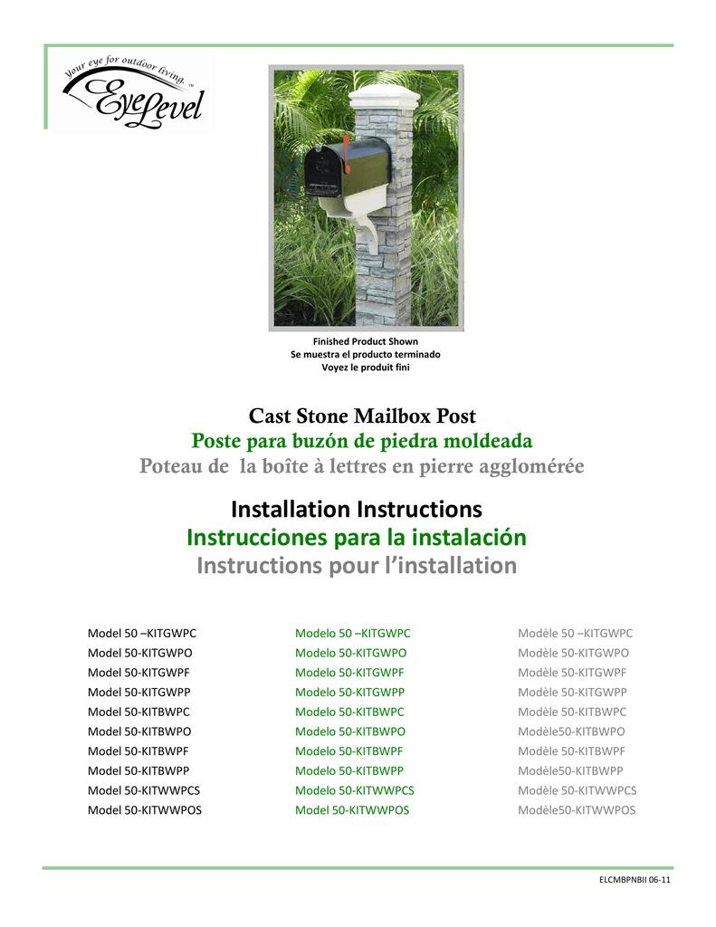 Installation Instructions Instrucciones Para La