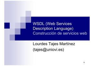 WSDL (Web Services Description Language) Construcción de